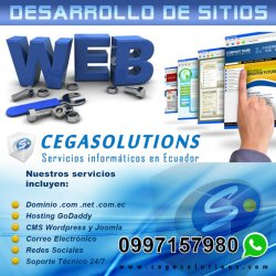 Páginas Web en Quito | Cegasolutions